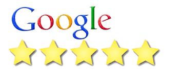 5 star rating on Google